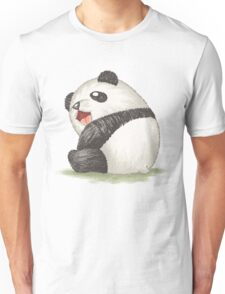 Happy panda sitting Unisex T-Shirt