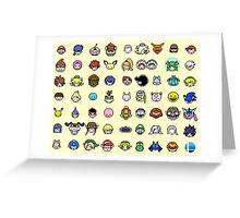 Pixel Smash Bros! Greeting Card