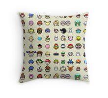 Pixel Smash Bros! Throw Pillow