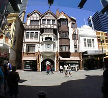 "Street view of the Arcade ""Old Worlde!"" Perth  by Ken Tregoning"