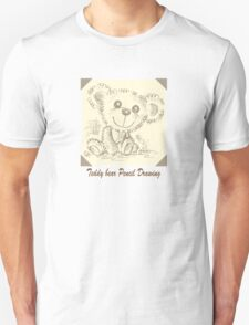 Teddy bear Pencil Drawing T-Shirt