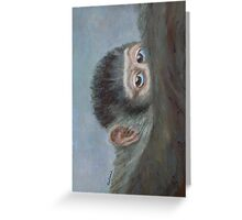 Me And My Mandrill Mother Greeting Card