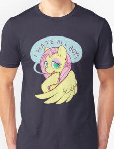 Fluttershy (I HATE ALL BOYS) Unisex T-Shirt
