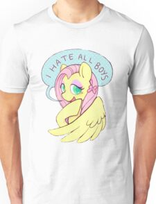 Fluttershy (I HATE ALL BOYS) Unisex T-Shirt
