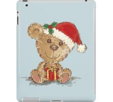 Teddy bear at Christmas iPad Case/Skin