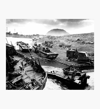 Iwo Jima Beach Painting  Photographic Print