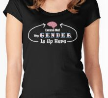 My Gender is Up Here (Dark) Women's Fitted Scoop T-Shirt