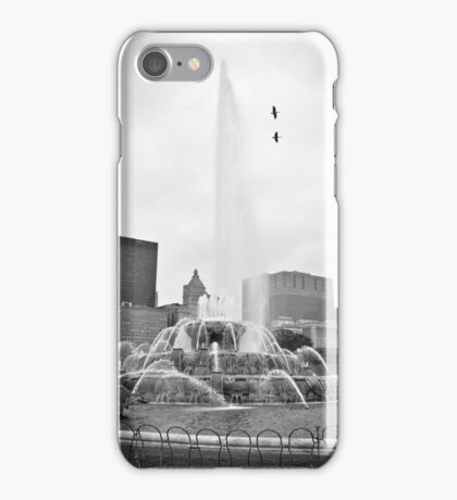 The Fountain BW iPhone Case/Skin