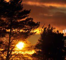 Sunrise Uplifting Rays Sticker