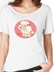 Poodle sitting Women's Relaxed Fit T-Shirt