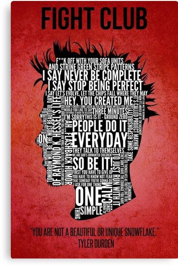 Typography Tyler Durden by Adam Grey