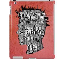 Typography Tyler Durden iPad Case/Skin
