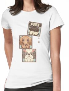 Square Dogs Womens Fitted T-Shirt