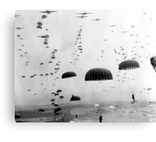Airborne Mission During WW2 Painting Canvas Print