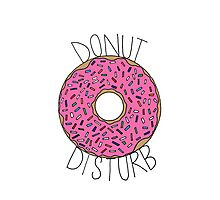 Donut Disturb - White Photographic Print