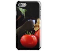 Eggplant and Tomato still life iPhone Case/Skin