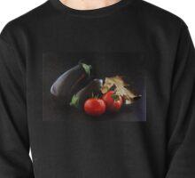 Eggplant and Tomato still life Pullover