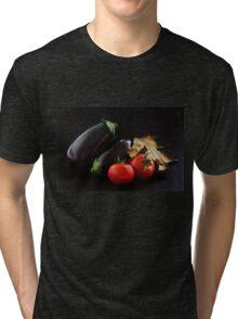 Eggplant and Tomato still life Tri-blend T-Shirt