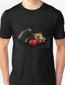 Eggplant and Tomato still life Unisex T-Shirt