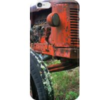 Tractor in red mould iPhone Case/Skin