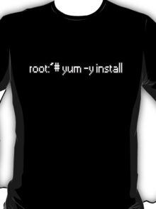 root:~# yum -y install  T-Shirt