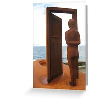 The Doorway from Life...to Death. Greeting Card