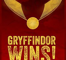 Gryffindor Wins - Harry Potter - Cinema Obscura Collection by Geoff Bloom