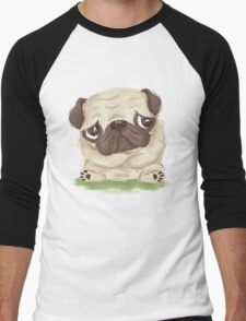 Thoughtful pug Men's Baseball ¾ T-Shirt
