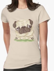 Thoughtful pug Womens Fitted T-Shirt