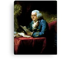 Ben Franklin Painting Canvas Print