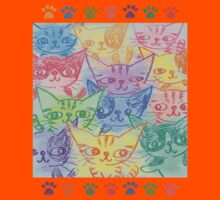 Chalk drawing of cats Kids Clothes