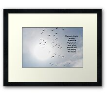 Falling amongst the clouds Framed Print