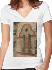 0897 Interesting Window Women's Fitted V-Neck T-Shirt