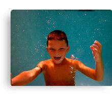 Boy with Gills Canvas Print