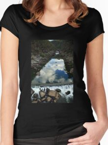 Rocks 'n Reflections - Historic Cataract Gorge Women's Fitted Scoop T-Shirt