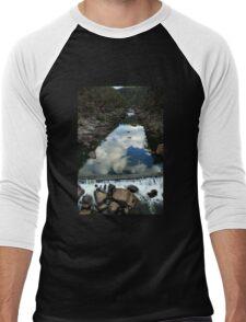 Rocks 'n Reflections - Historic Cataract Gorge Men's Baseball ¾ T-Shirt