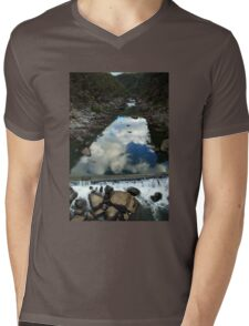 Rocks 'n Reflections - Historic Cataract Gorge Mens V-Neck T-Shirt