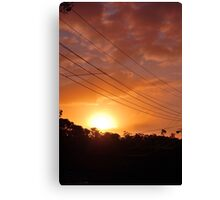 Urban Sunset in Winter Canvas Print