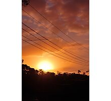 Urban Sunset in Winter Photographic Print