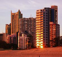 Sunlit Towers 2...... Main Beach  by BK Photography