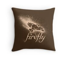 Firefly Silhouette Throw Pillow