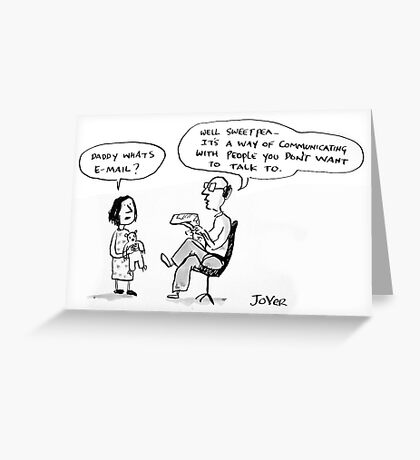 email explanation Greeting Card