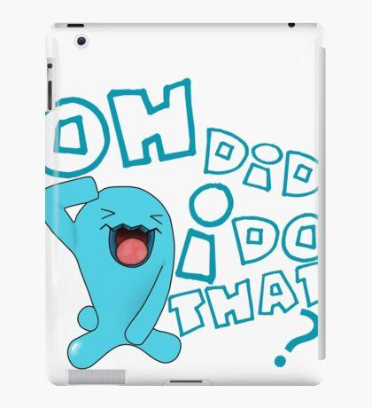 wobbaffet pokemon did i do that? iPad Case/Skin