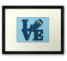 Doctor Who Love Tardis Framed Print