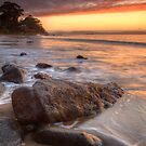 Early Morning at Hinsby Beach, Tasmania #2 by Chris Cobern