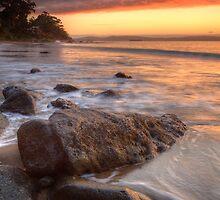 Early Morning at Hinsby Beach, Tasmania #2 by Chris Cobern