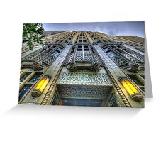 Art Deco Gothic - BMA House c1929-30 - The HDR Experience Greeting Card