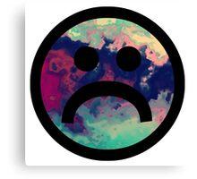 Sad Face #5 a Canvas Print