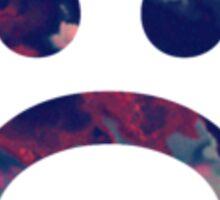 Sad Face #5 b Sticker