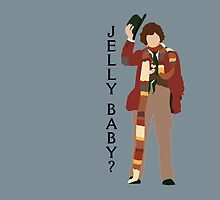 Doctor Who Tom Baker Jelly Baby minimalist by JSKerberDesigns
